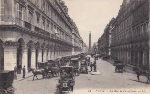 PARIS, France, 1900-1910's; La Rue De Castiglione, Classic Cars