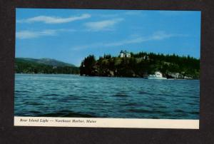 ME Bear Island Light House Lighthouse Northeast Harbor Maine Postcard Mt Desert
