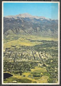 Colorado, Colorado Springs, aerial view, unused