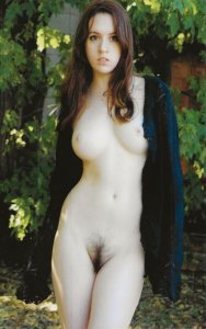 HR-11 - Handmade Tall Risque Nude Russian Brunet Girl Real Picture Postcard