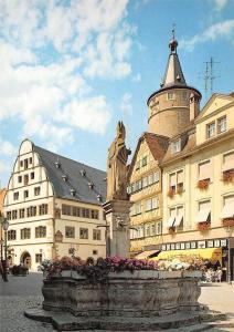 Kitzingen Rathaus mit Kiliansbrunnen Town hall Statue Fountain