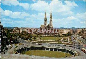 Postcard Modern Vienna Underground Schotten with Votivkirche and Hotel Regina
