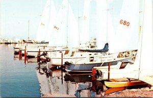 Postcard UT Utah Salt Lake City Silver Salt Marina Boats Dock Unposted