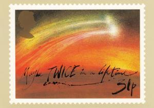 Halley's Comet Stamp postcard 31p
