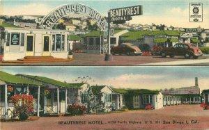 Beautyrest Motel roadside San Diego California Colorpicture Postcard 8722