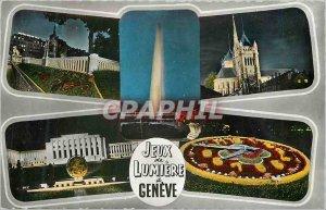 Postcard Modern Games Lumiere Geneva