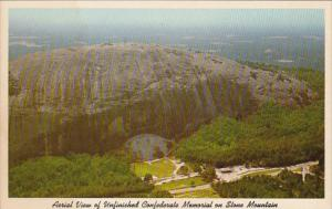 Georgia Atlanta Aerial View Of Unfinished Confederate Memorial On Stone Mountain
