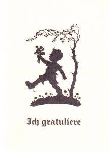Congratulations - Ich Gratuliere - German Card - Silhouette