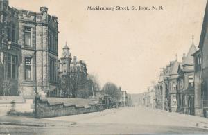 Mecklenburg Street in Saint John NB, New Brunswick, Canada - pm 1908 - DB