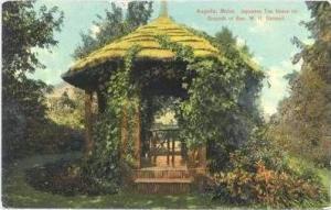Japanese Tea House On Grounds Of Hon. W. H. Gannett, Augusta, Maine, PU-1913