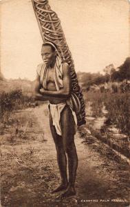 Sierra Leone Carrying Palm Kernels Postcard