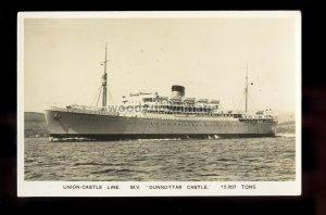 LS1853 - Union Castle Liner - Dunnottar Castle - postcard