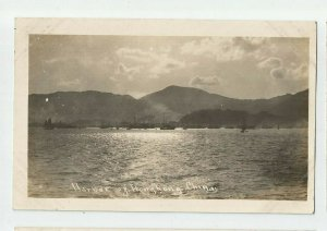 Real Photo Postcard ~ US Navy~ Great White Fleet ~Harbor Hong Kong China  ~ 1908