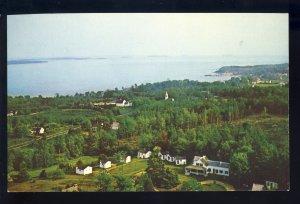Lincolnville Beach, Maine/ME Postcard, Bonnie Ridge Cabins, Penobscot Bay