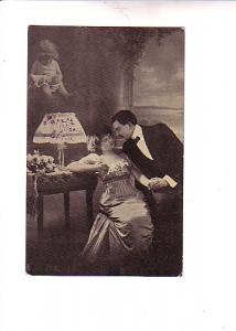 B&W Couple, Dreaming of Child w Doll, Roses, Lamp, Norway