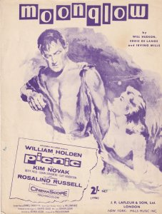 Moonglow Movie Theme William Holden 1950s Sheet Music