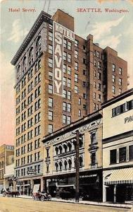 Seattle Washington~Hotels: Savoy, Brooklyn, Berkshire (Later Parking Lot) 1908