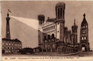 CPA Lyon-Projections de l'Ascenseur de la Tour de Fourviére s la Basili.(426754)