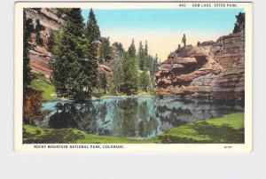 VINTAGE POSTCARD NATIONAL STATE ROCKY MOUNTAIN GEM LAKE ESTES PARK