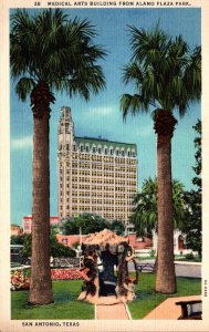 Texas San Antonio Medical Arts Building From Alamo Plaza Park Curteich