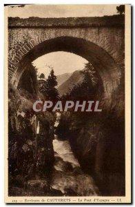 Postcard Old Surroundings of the Bridge of Spain Cauterets