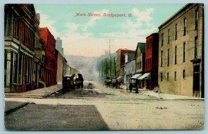 Bridgeport Ohio~Main Street Cobblestones~Fred J Hibbs Co~Hardware Store~1910