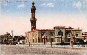 Port Said Egypt Abbas Mosque Unused Postcard F22