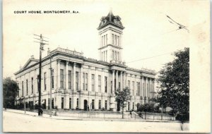 Montgomery, Alabama Postcard County COURT HOUSE Building, Street View c1900s