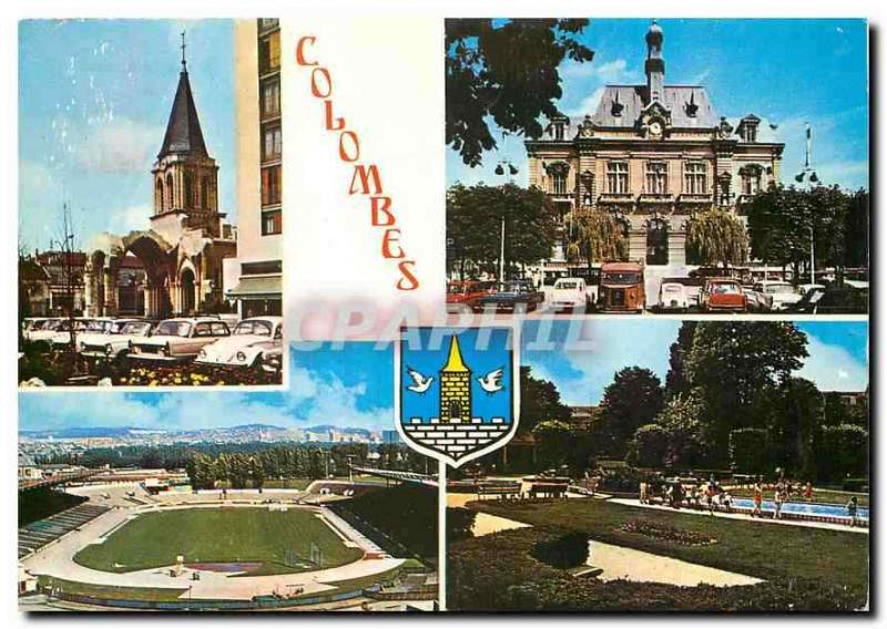 Modern Postcard Doves the bell-tower of the old Church St Pierre St Paul the To
