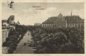 poland, ALLENSTEIN OLSZTYN, Ostpreußen, Kaiserstrasse (1917)