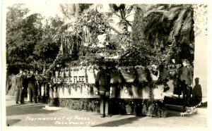 CA - Pasadena. Tournament of Roses Parade, US Pacific Fleet Float, 1921   *RPPC