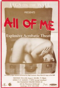 All Of Me Human Contortionist Acrobatic Threat Scottish Theatre Postcard