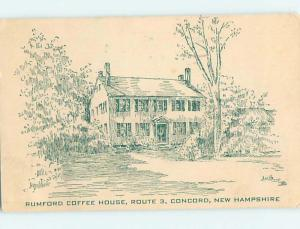 artist signed RUMFORD COFFEE HOUSE RESTAURANT Concord New Hampshire NH hs5662