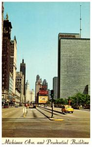 Illinois Chicago ,      Michagan Ave. & the Prudential Building