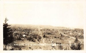 RPPC Birdseye View of Residence Section Port Angeles, Washington Postcard c1920s
