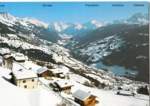 Switzerland, Blick von ob Pany auf das obere Prattigau, used Postcard