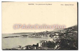Old Postcard Menton Vue Generale And Cape Martin