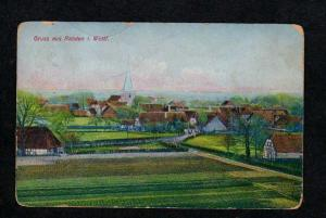 Germany Gruss aus Rahden i Westf. Postcard German Postkarte Vintage Old PC