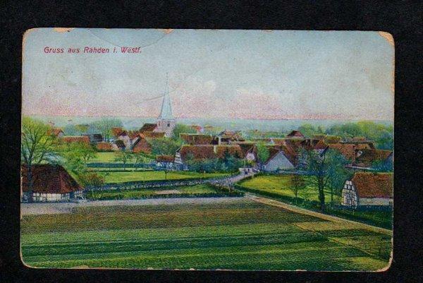Germany Gruss aus Rahden i Westf. Postcard German Postkarte Vintage Old PC