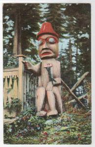 Alaska Indian Totem 1910c postcard