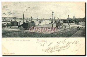 Old Postcard View of Bordeaux & # 39esplanade Quinconces