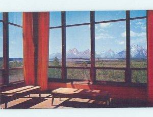 Pre-1980 LODGE SCENE Moran Junction - Near Jackson Hole Wyoming WY AE0576
