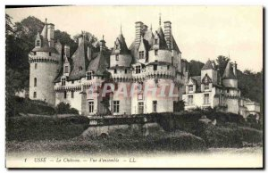 Old Postcard Usse Chateau Overview
