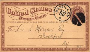Massillon OH Randall's Disc Harrow Pulverizer Illustrated 1874 Postal Card