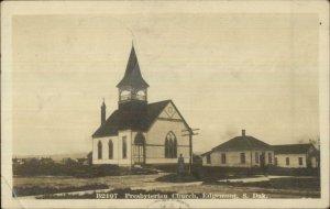 Edgemont SD Presbyterian Church 1912 FRANNIE & CODY RPO Cancel RPPC