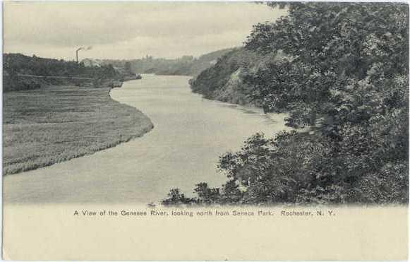 UND/B Genessee River north from Senaca Park Rochester NY