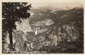 RP: YOSEMITE Nat'l Park, California, 30-40s; Vernal & Nevada Falls, High Sierras