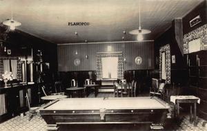 SEATTLE, WASHINGTON POOL ROOM-EARLY 1900S RPPC REAL PHOTO POSTCARD
