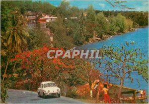 Modern Postcard Martinique's Caribbean Coast surroundings Scholes and Lido