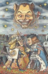 Economic & Monetary Union Alice In Wonderland Comic Postcard